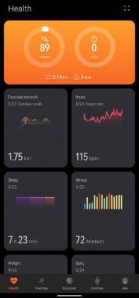 Huawei Health - UI 1