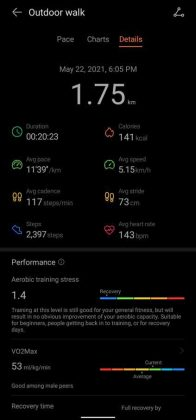 Huawei Health - Workout 1