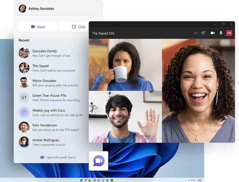 Microsoft Teams integration into Windows 11