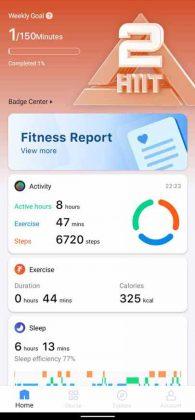Mobvoi App - Dashboard 1