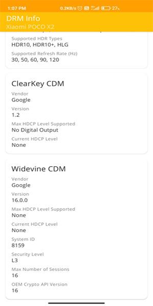 Poco X2 Widevine downgrade
