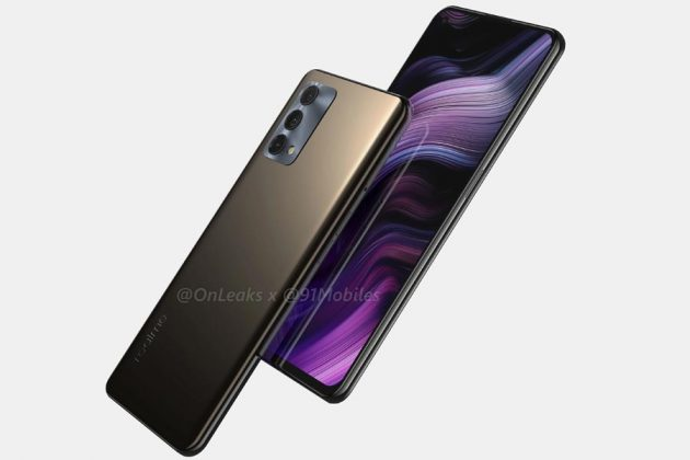 Realme GT 5G Master Edition Faux Leather Render