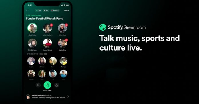 Spotify announces Greenroom Clubhouse clone drop-in audio live