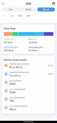 TicWatch E3 - Sleep Monthly 2