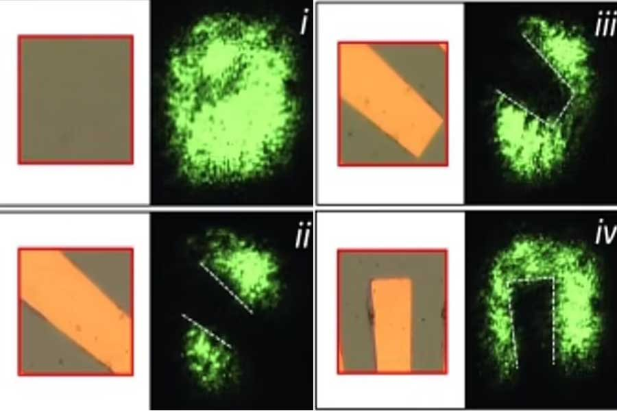 Ultra-thin film in glass samples