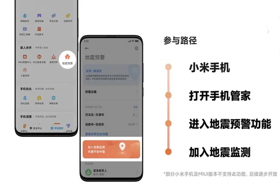Xiaomi Earthquake Manager System