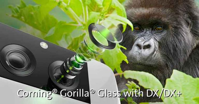Corning Gorilla Glass DX DX+ announced smartphone cameras cover glass coating