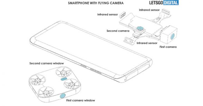 Vivo Patents smartphone with flying camera