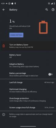 Motorola Moto G60 - Battery Endurance 1