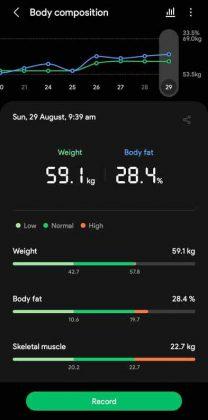 Samsung Health - Body Composition 1