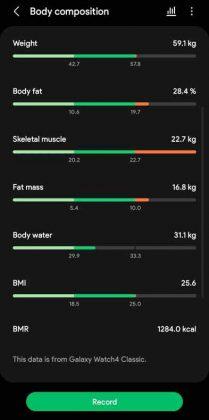 Samsung Health - Body Composition 2