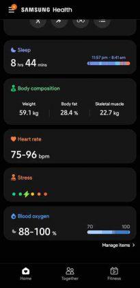 Samsung Health UI - 2