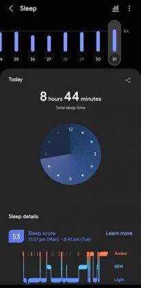 Samsung Health - vs - Sleep 1