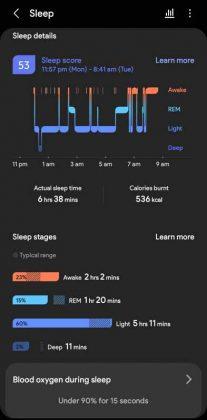 Samsung Health - vs - Sleep 2