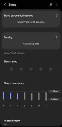 Samsung Health - vs - Sleep 3