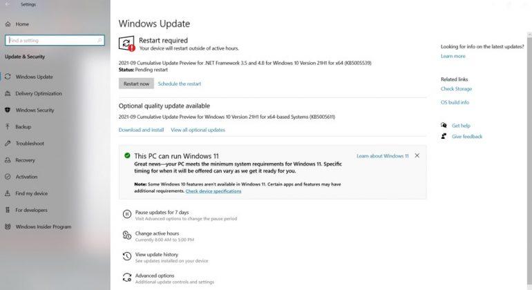 Windows11 Update Check - 2