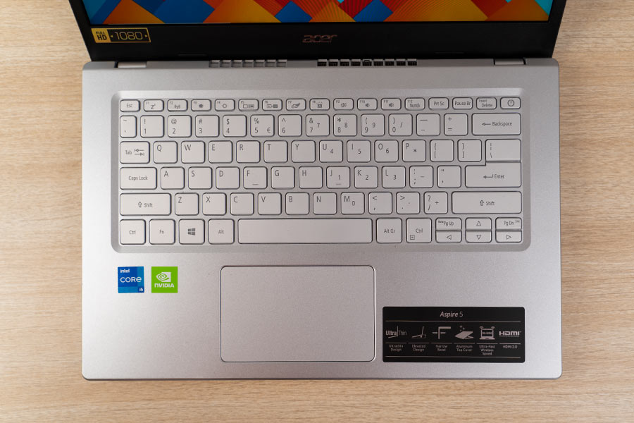 Acer Aspire 5 2021 Keyboard and Trackpad