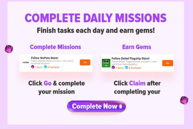 Daraz Gems - Daily Missions