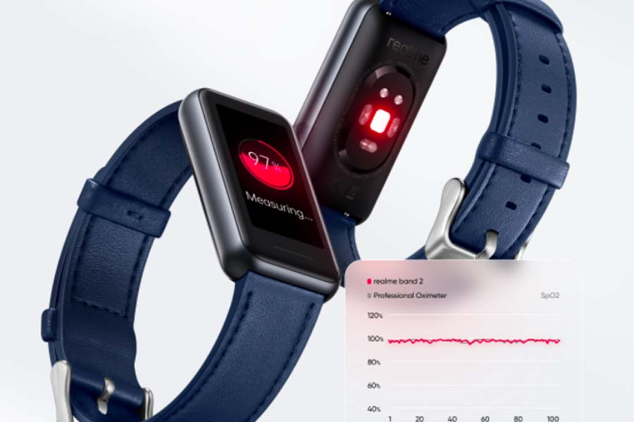 Realme Band 2 blood oxygen monitor
