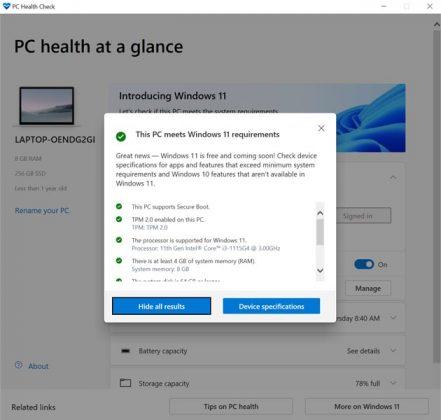 RealmeBookSlim - PC Health