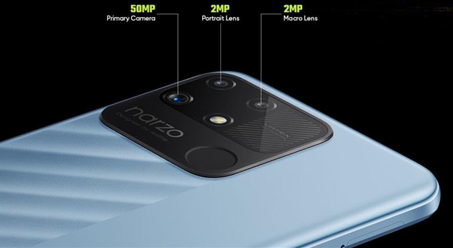 Realme Narzo 50A Camera Setup
