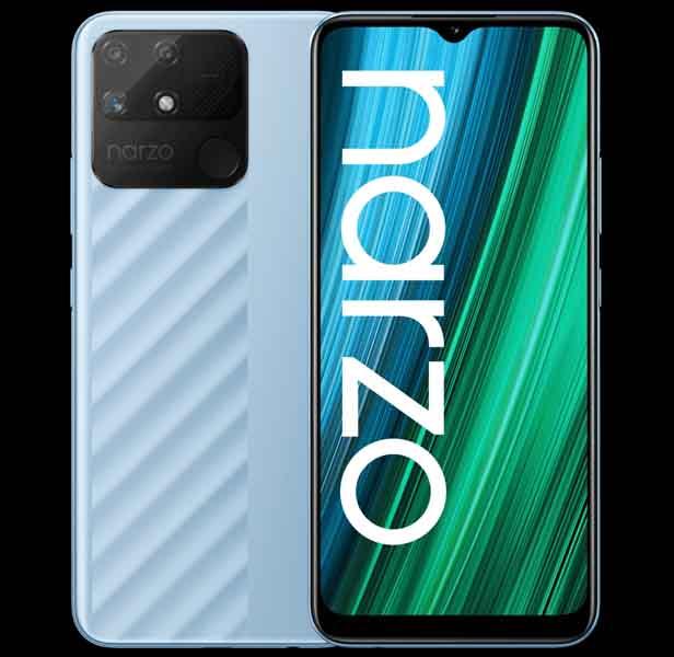 Realme Narzo 50A Design and Display