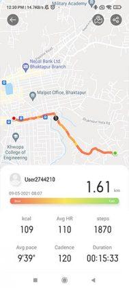 RealmeWatch2 Outdoor Walk Tracking
