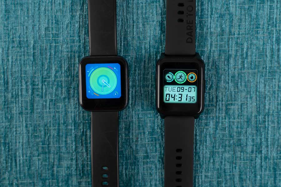 Realme Watch 2 vs Realme Watch Display comparison