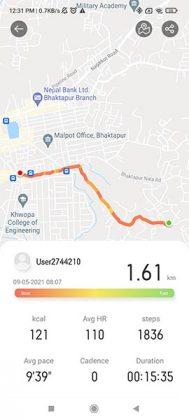 RealmeWatch Outdoor Walk Tracking
